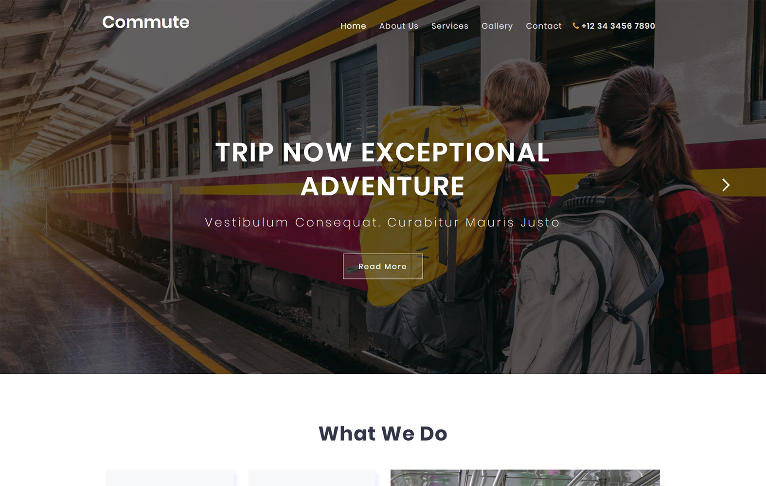 Commute Travel Category Flat Bootstrap Responsive Website Template